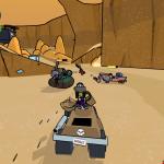 Violet unloads her Gatling Gun during a Smack Attack match in Death Valley