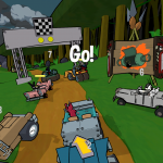 Sinder starts a Gate Relay race in Shmoe vs. the Volcano