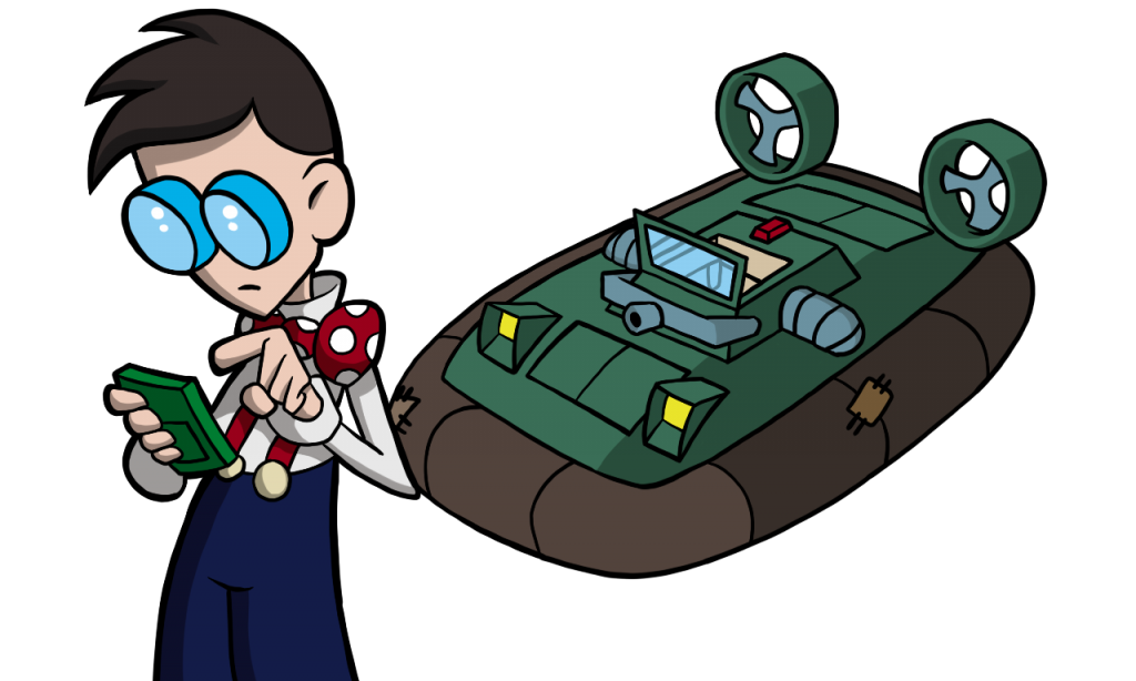 Flemming and his Hovercraft